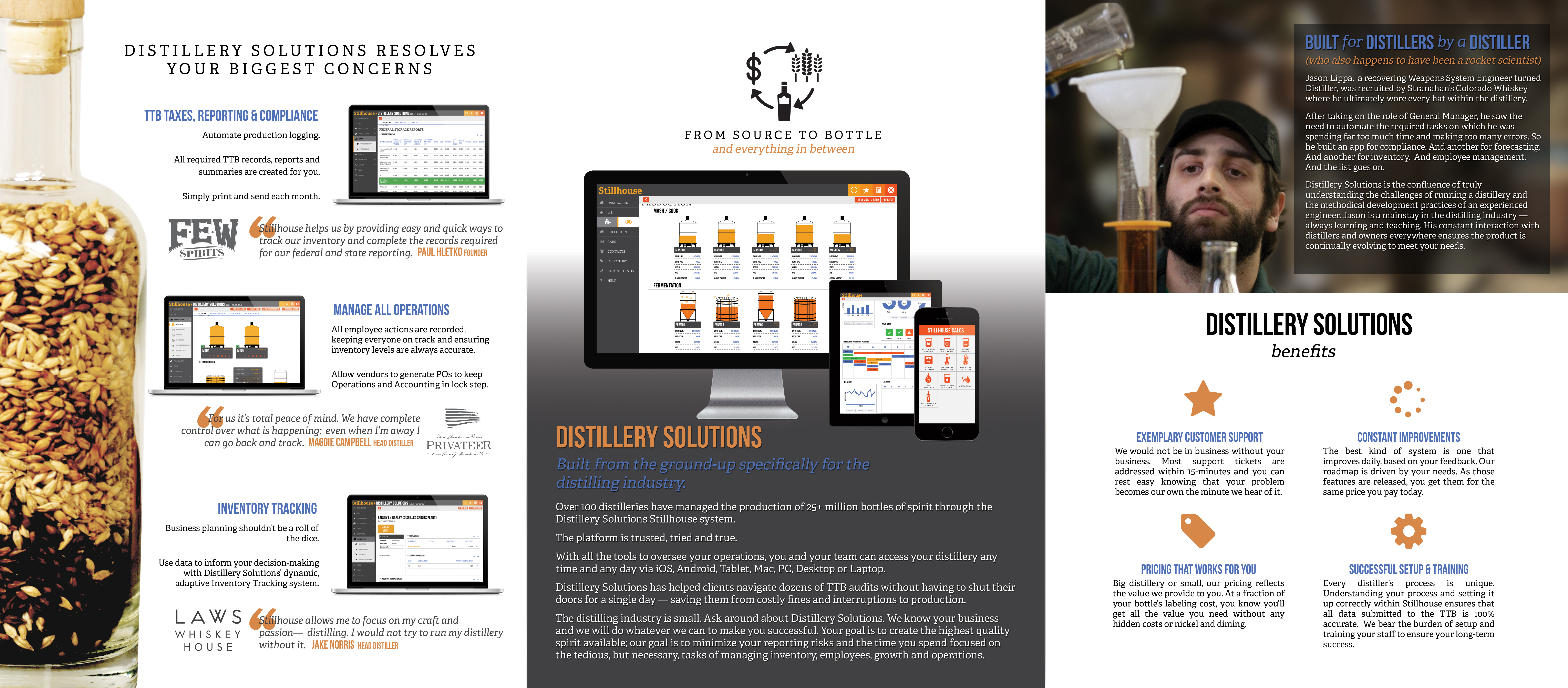distillery solutions marketing brochure inside