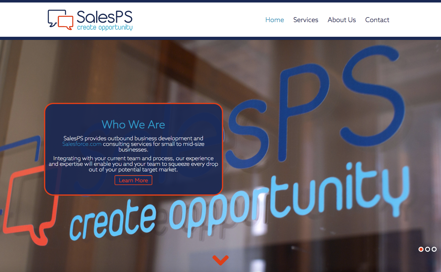 SalesPS website and rebranding